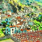 Buildings of Papasidero with roof by Giuseppe Cocco
