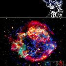 CASSIOPEIA A : Vintage Star Constellation Print by posterbobs