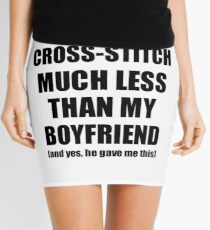 Cross-Stitch Girlfriend Funny Valentine Gift Idea For My Gf From Boyfriend I Love Mini Skirt