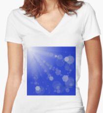 Sun Burst. Women's Fitted V-Neck T-Shirt