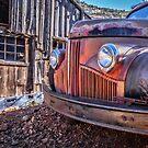 Rusty Old Truck In A Ghost Town In Arizona by Edward Fielding