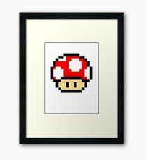 Red Mario Mushroom Framed Print