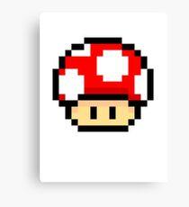 Red Mario Mushroom Canvas Print