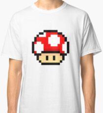 Red Mario Mushroom Classic T-Shirt