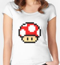 Red Mario Mushroom Women's Fitted Scoop T-Shirt