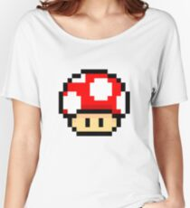 Red Mario Mushroom Women's Relaxed Fit T-Shirt