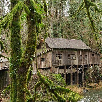 Cedar Creek Grist Mill in Woodland, Washington by cheesim