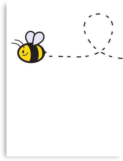 Cute Bee Top by Ine Spee
