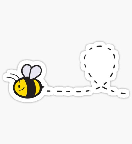 Cute Bee Top Sticker