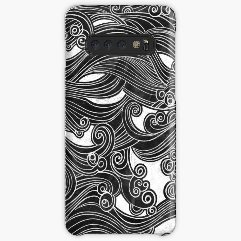 Black Wave Case & Skin for Samsung Galaxy