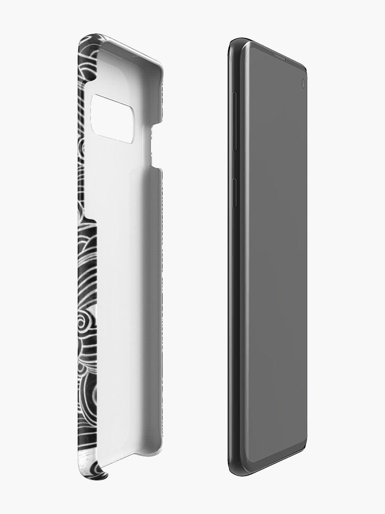 Alternate view of Black Wave Case & Skin for Samsung Galaxy