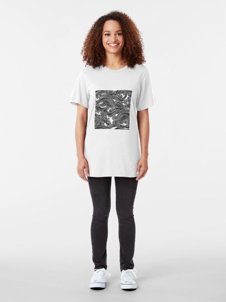 Alternate view of Black Wave Slim Fit T-Shirt