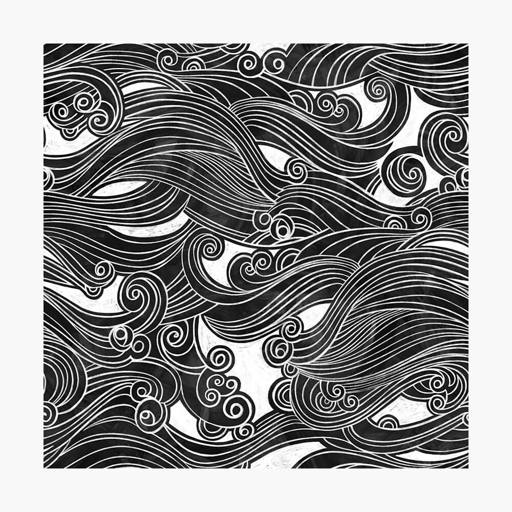 Black Wave Photographic Print