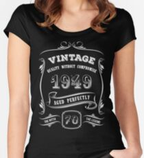 Vintage 1949 - 70th Birthday Gift Idea Women's Fitted Scoop T-Shirt