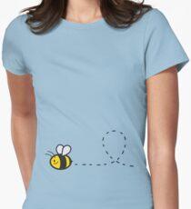Cute Bee Bottom Women's Fitted T-Shirt