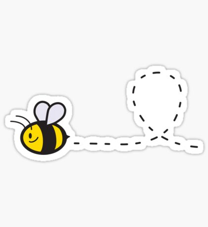 Cute Bee Bottom Sticker