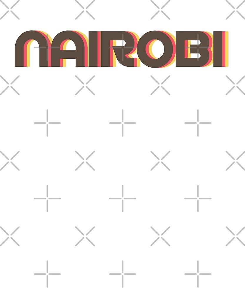 Retro Nairobi T-Shirt by designkitsch