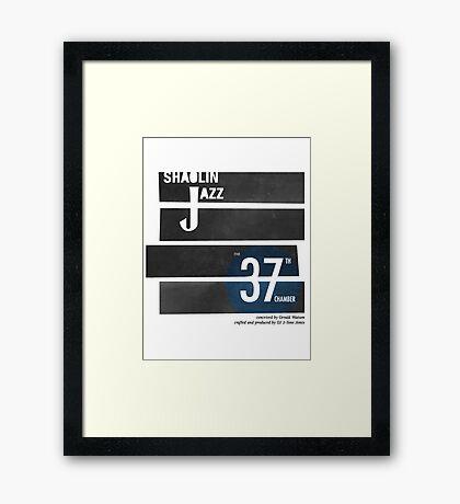 SHAOLIN JAZZ - Bones Framed Print