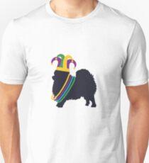Funny Pomeranian Mardi Gras T-Shirt Dog Lover Costume Beads Unisex T-Shirt
