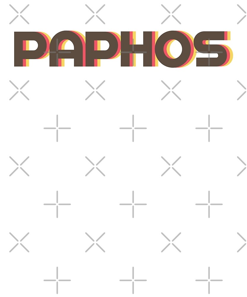 Retro Paphos T-Shirt by designkitsch