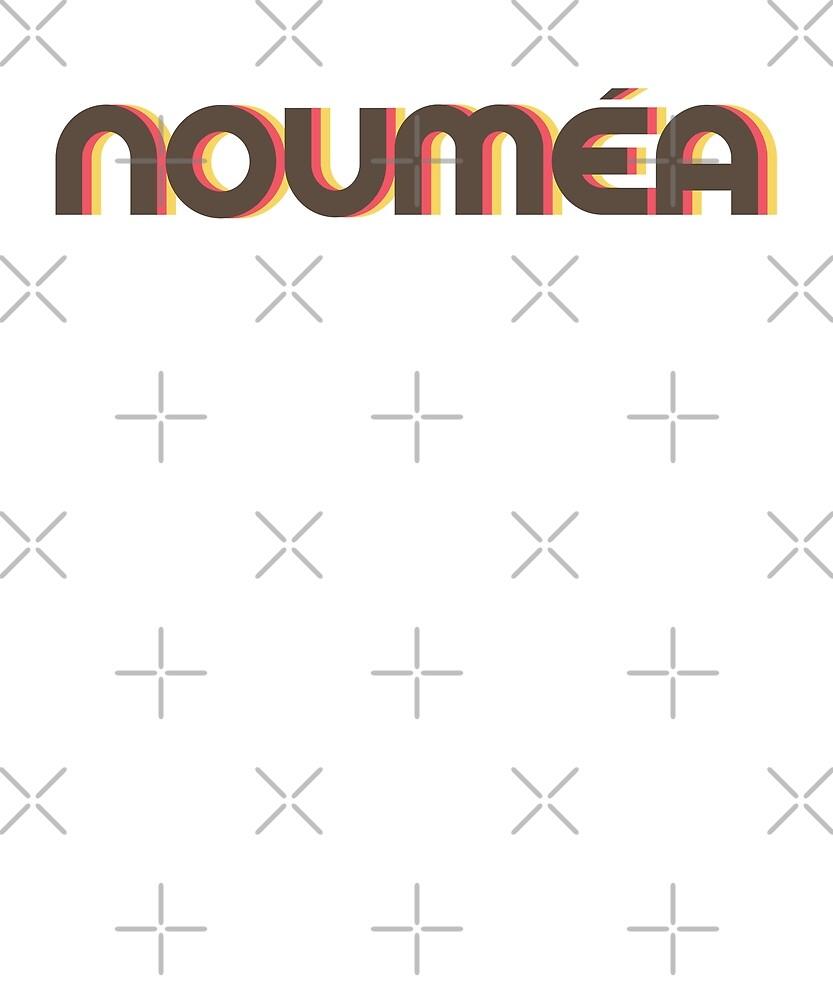Retro Noumea T-Shirt by designkitsch