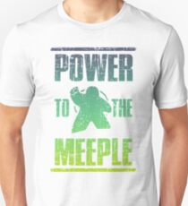 Power To The Meeple Board Games Nerd Geek Unisex T-Shirt