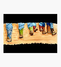 Real Cowboys and Their Boots Photographic Print