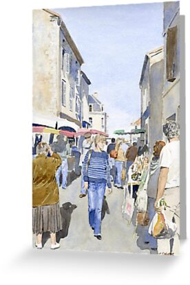 Market day at Piegut, France by ian osborne