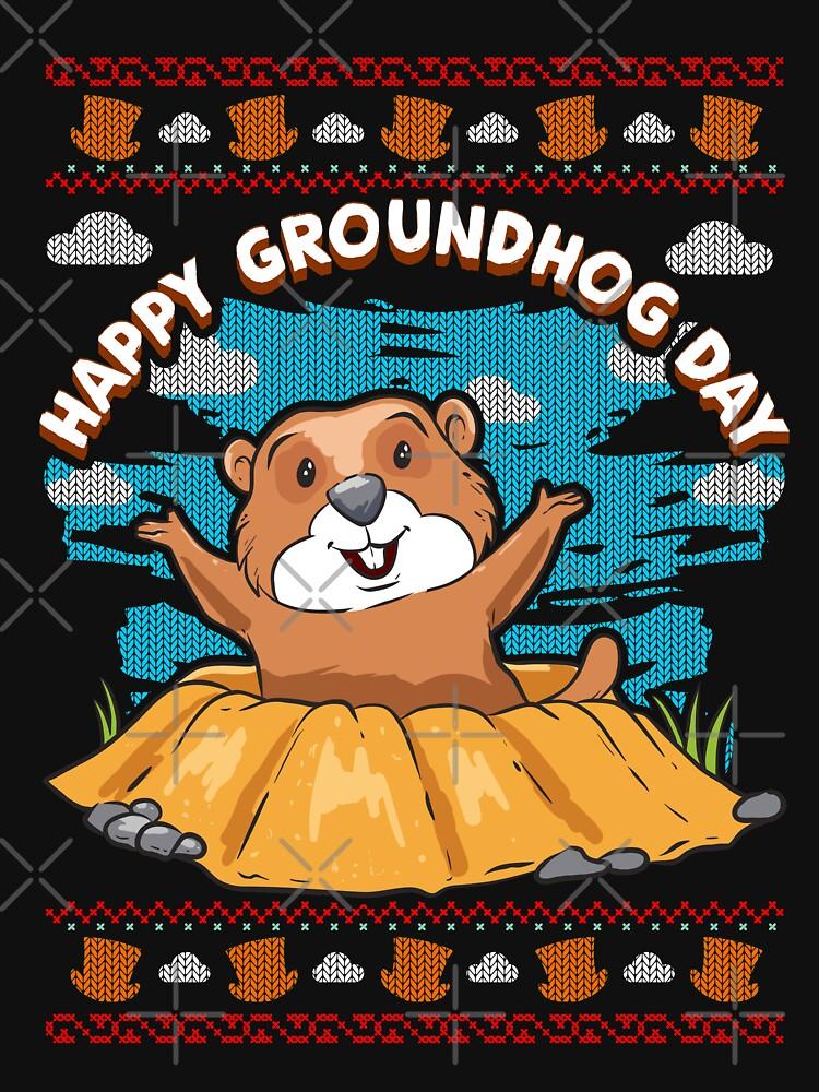 Happy Groundhog Day hässlich von frittata