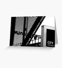 CITY contemporary Greeting Card