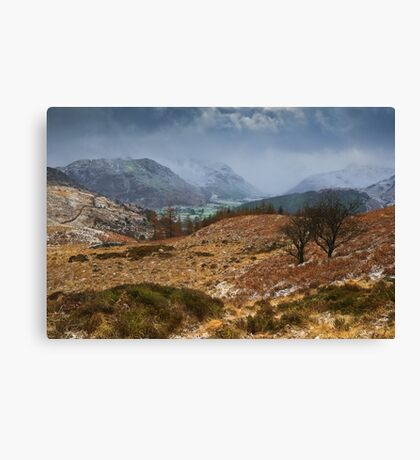 Snowstorm Over Borrowdale Canvas Print