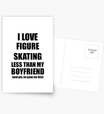 Figure Skating Girlfriend Funny Valentine Gift Idea For My Gf From Boyfriend I Love Postkarten