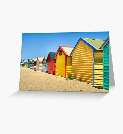 Brighton bathing boxes - Victoria - Australia Greeting Card