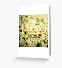 I Love You Scrabble Jumble. Greeting Card