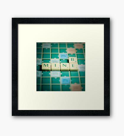 Be Mine Scrabble. Framed Print