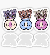 STPC: Three Chibis (New Years 2019) Sticker