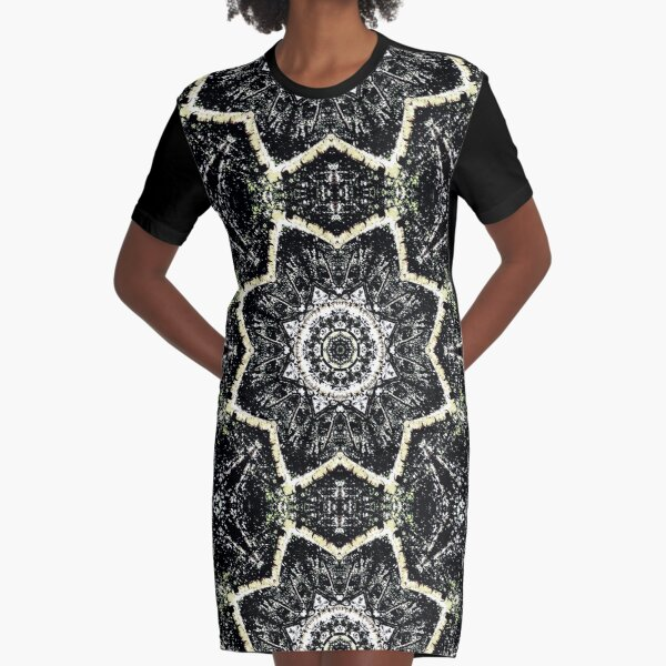 Kaleidoscope Gothic Graphic T-Shirt Dress