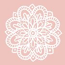 Beautiful Mandala Flower Rose Gold by julieerindesign