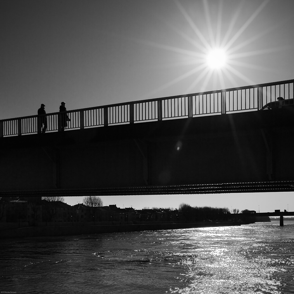 Dark Sunlight over the Bridge - Arles, France - 2010 by Nicolas Perriault