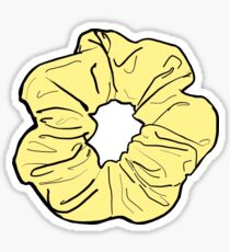 Gelbes Scrunchie Sticker