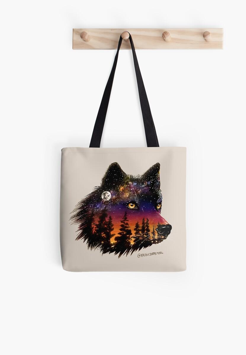 Wolf Galaxy by Jody Steel by artistjodysteel