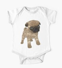 Pug Puppy One Piece - Short Sleeve