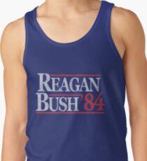 Camiseta de tirantes Camiseta Vintage Reagan Bush 1984