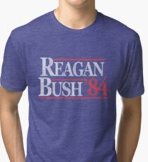 Vintage Reagan Bush 1984 T-Shirt Tri-blend T-Shirt