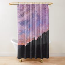 Silhouette Mountain Shower Curtain