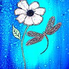 The Dragonfly and Flower by Linda Callaghan