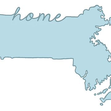 Massachusetts Home State Blue by jamiemaher15