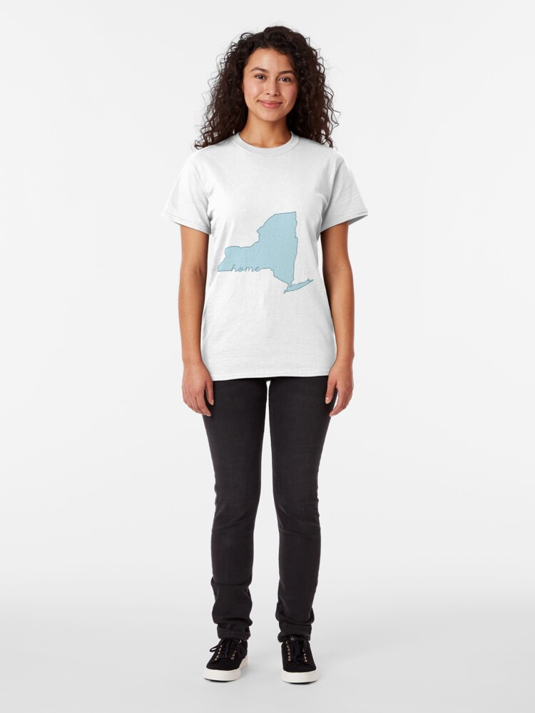 Alternative Ansicht von New Yorker Heimatstaat blau Classic T-Shirt