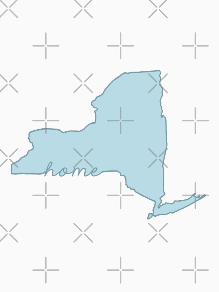 New Yorker Heimatstaat blau von jamiemaher15