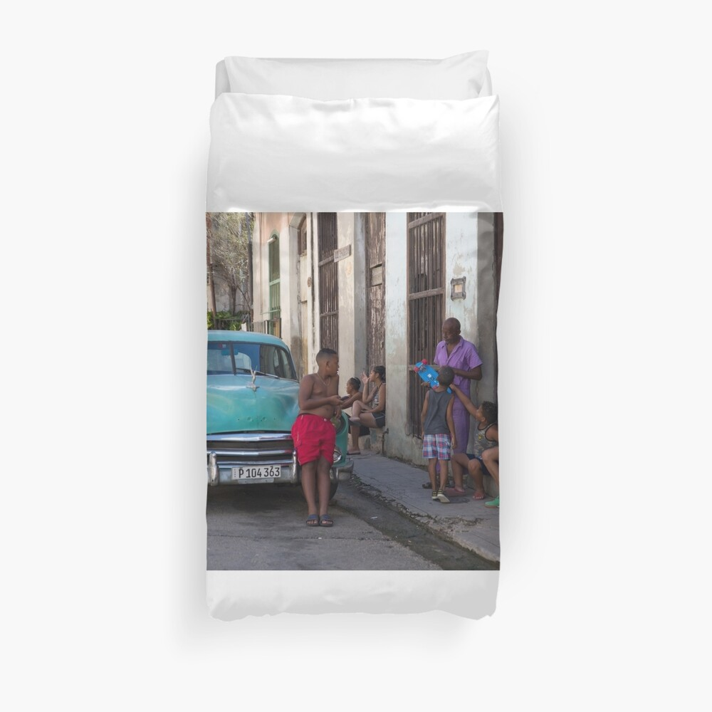 Havana Street Life Duvet Cover